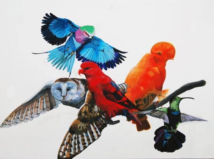 Peinture-Oiseaux