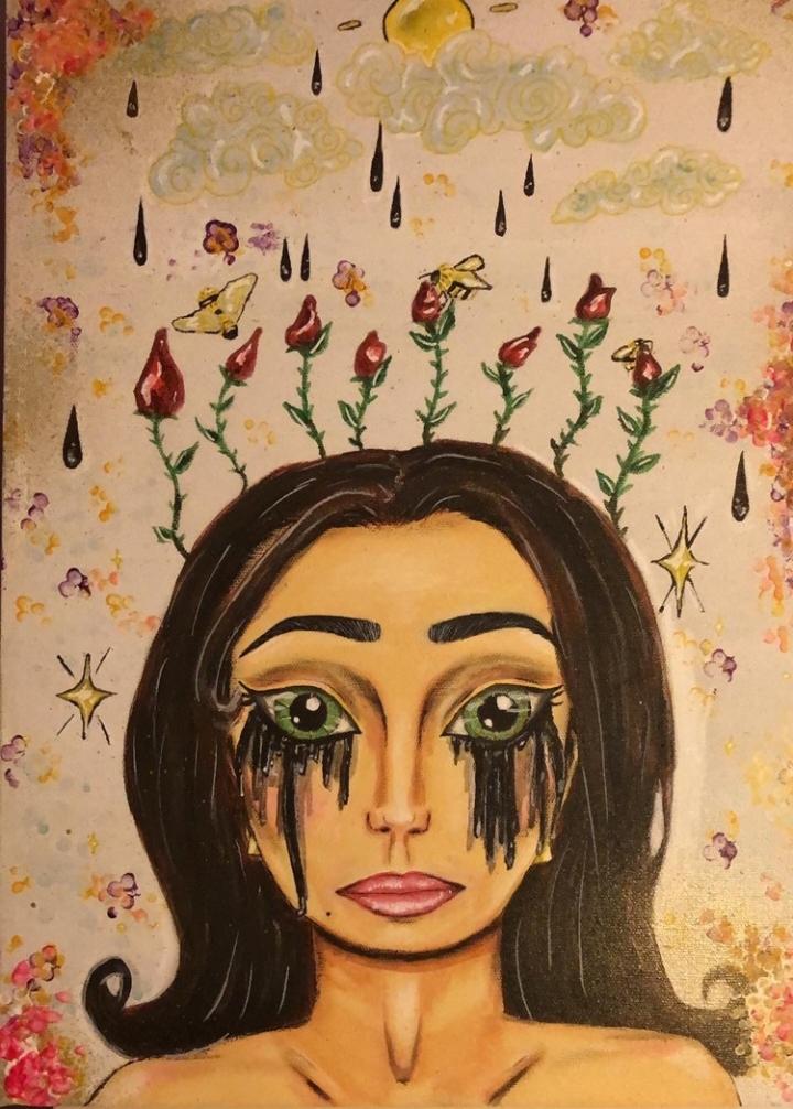 Une peinture réalisée par Sarah. © Sarah